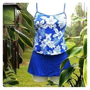 Gabar Cami Style Blue Tankini Size 10
